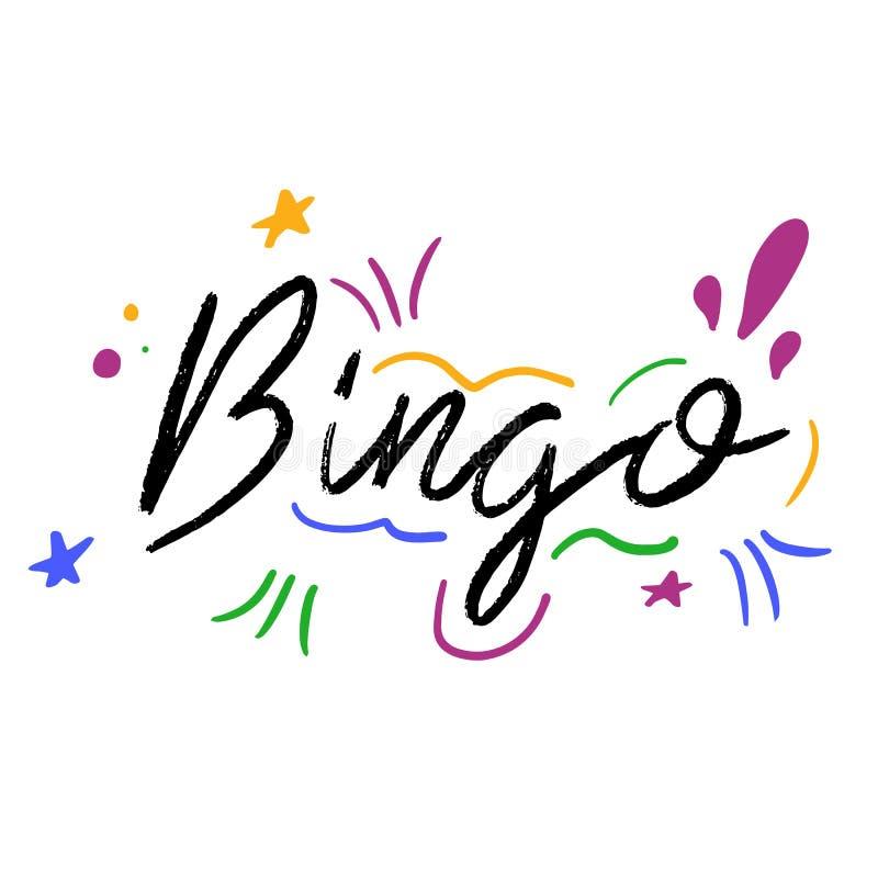 Bingohand gezeichnet, Phrase beschriftend vektor abbildung