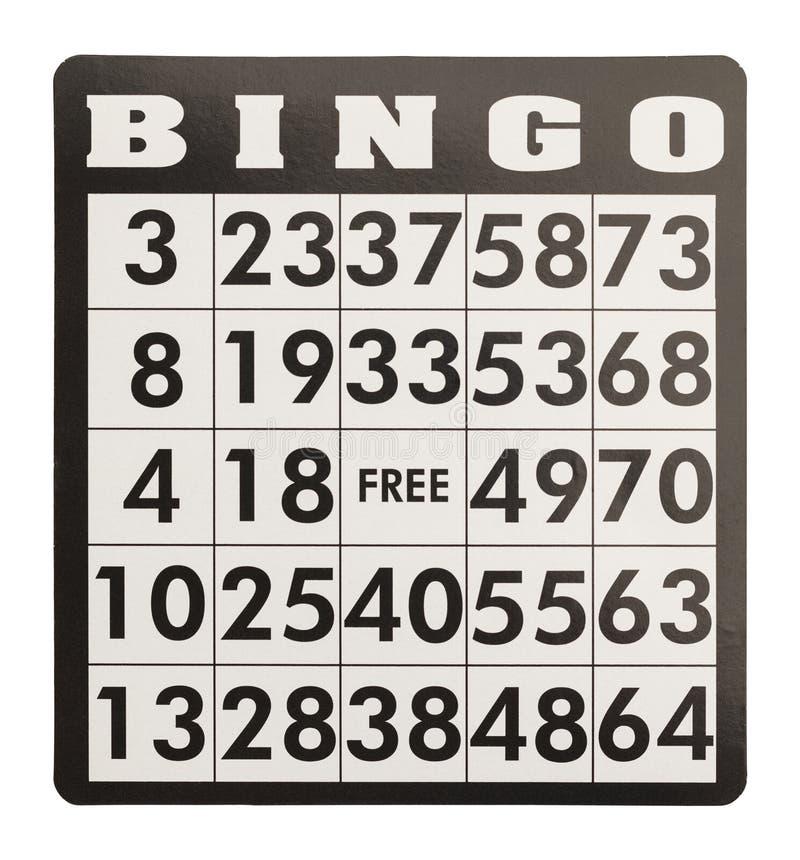 Bingokaart royalty-vrije stock afbeelding