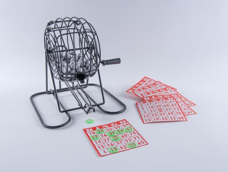 Bingokansspel Kooi en Kaarten stock afbeelding