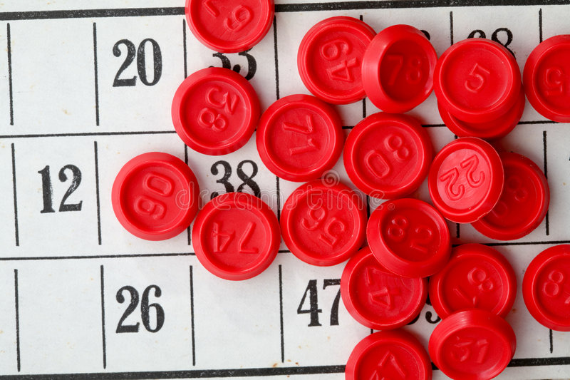 Bingospiel stockfotos