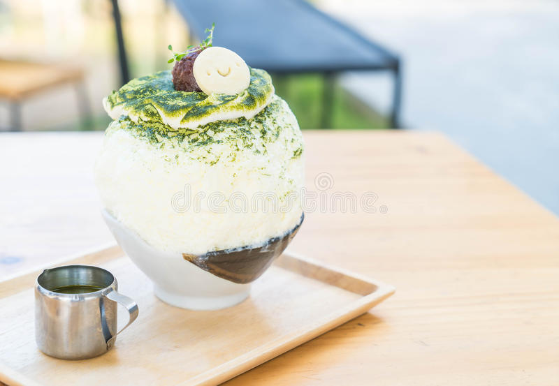 bingsu del tè verde immagine stock