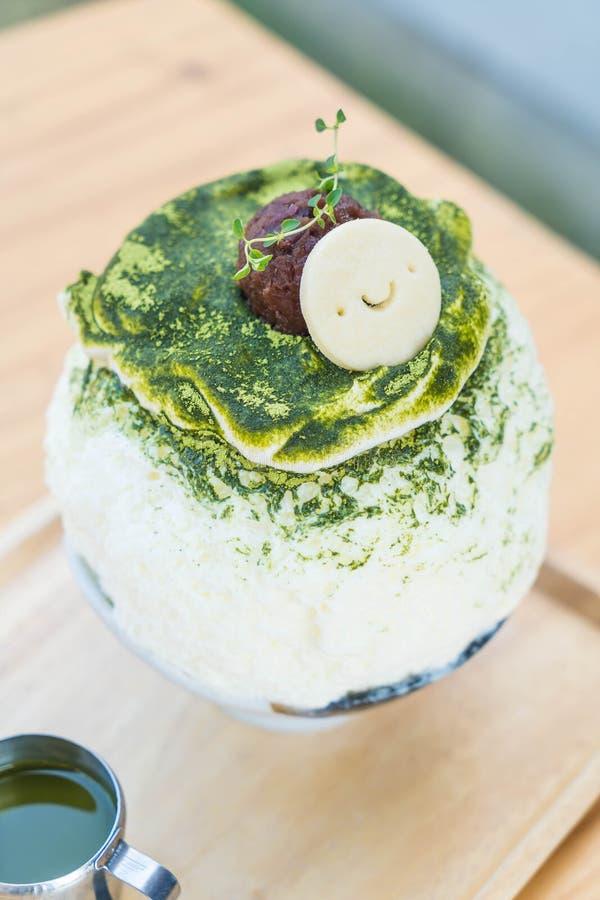 bingsu del tè verde immagini stock