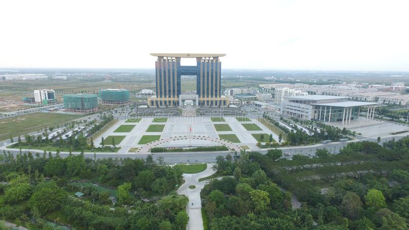 Binh Duong Province Administration Center ny stad royaltyfria bilder