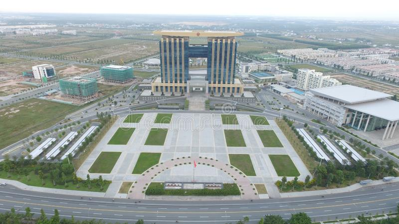 Binh Duong Province Administration Center ny stad arkivbild
