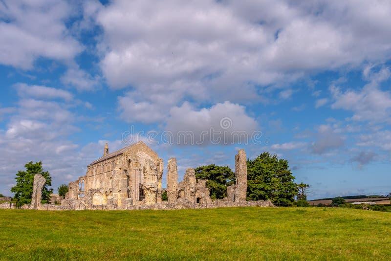 Binham Priory i ruiny, Północny Norfolk zdjęcie stock