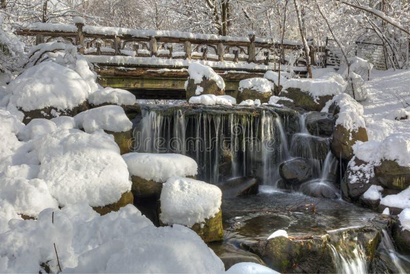 Binnen понижается после снега весны стоковое фото rf