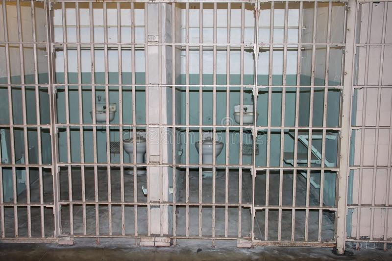 Binnen Alcatraz royalty-vrije stock fotografie