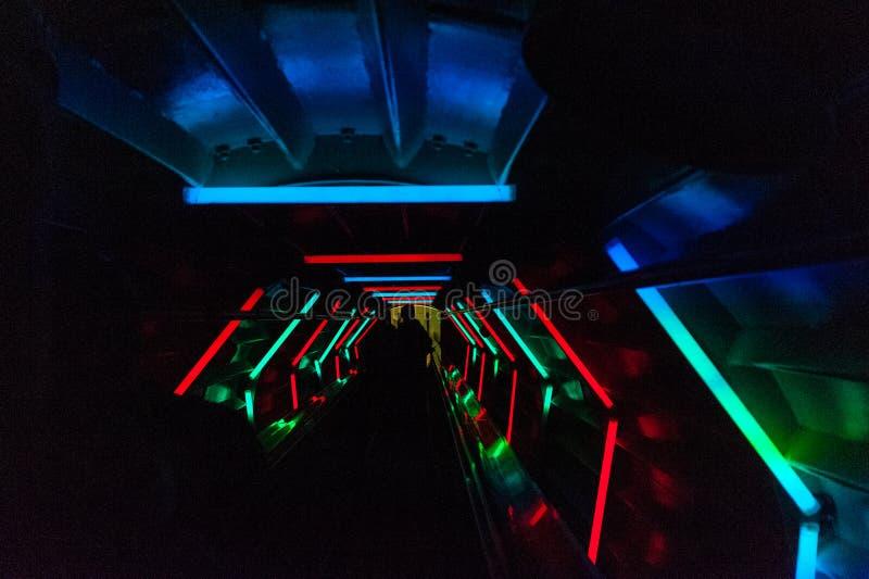 Binnen Atomium stock foto's