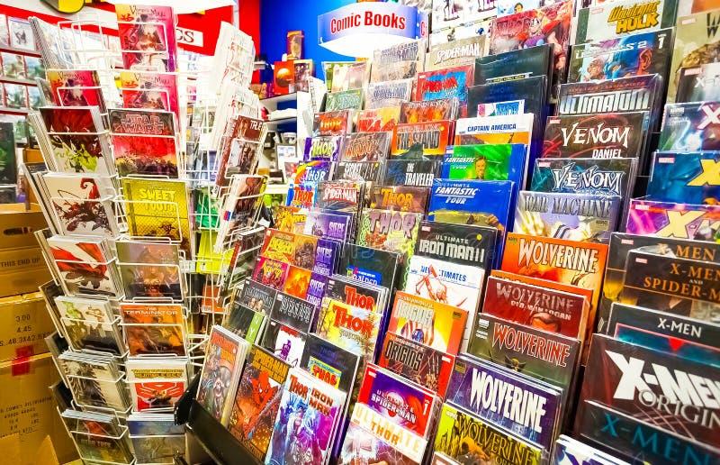 Binnen binnenland van een Grappige Boekhandel royalty-vrije stock afbeelding