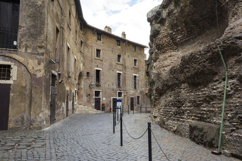 Binnen Castel Sant Angelo in Rome, Italië stock fotografie