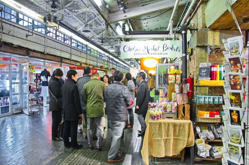 Binnen Chelsea Market, de Stad van Manhattan, New York royalty-vrije stock foto
