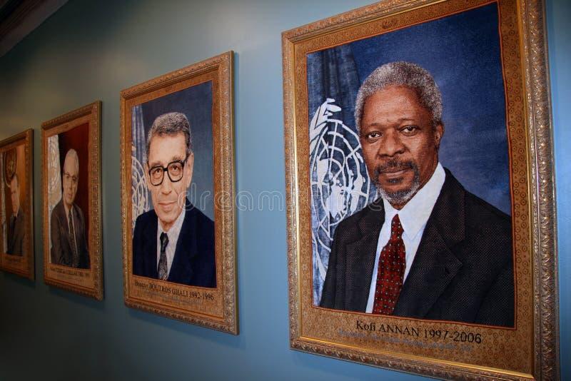 Binnen de Bouw van de V.N. De Stad van New York stock afbeeldingen