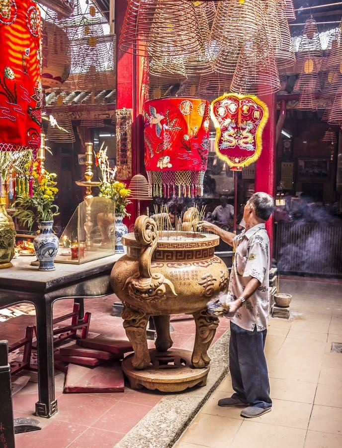 Binnen de Chinese tempel royalty-vrije stock fotografie