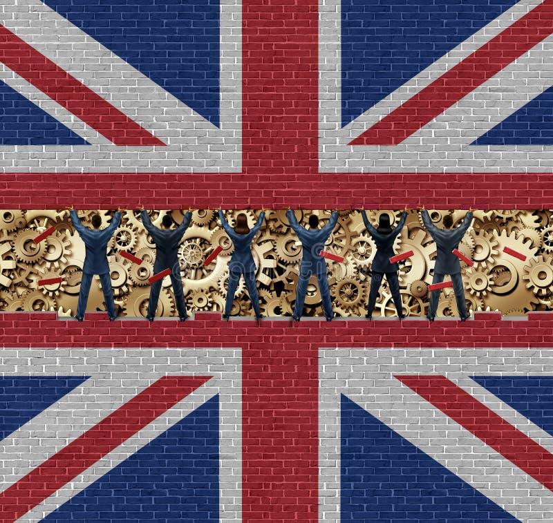 Binnen de Economie van Groot-Brittannië vector illustratie