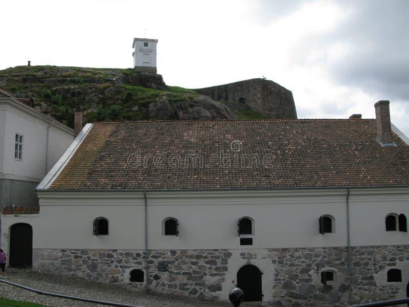 Binnen de Fredriksten-vesting in Halden, Noorwegen royalty-vrije stock afbeelding