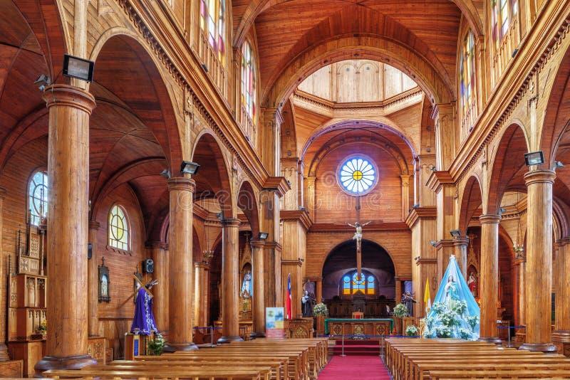 Binnen de kerk St Francis, is de belangrijkste katholieke tempel van Th royalty-vrije stock foto's