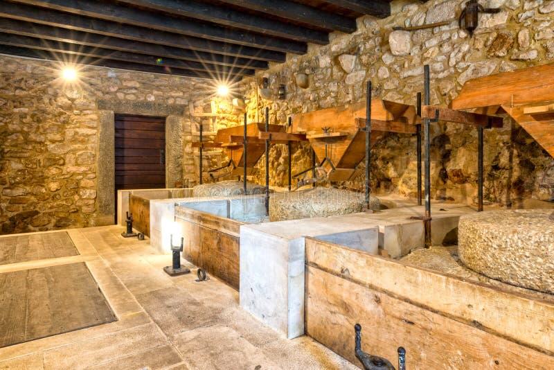 Binnen de molens in Nationaal park Krka royalty-vrije stock afbeelding