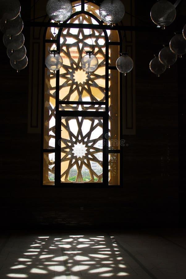 Binnen de Moskee stock afbeelding