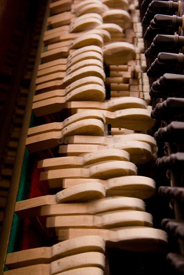Binnen de piano stock afbeelding