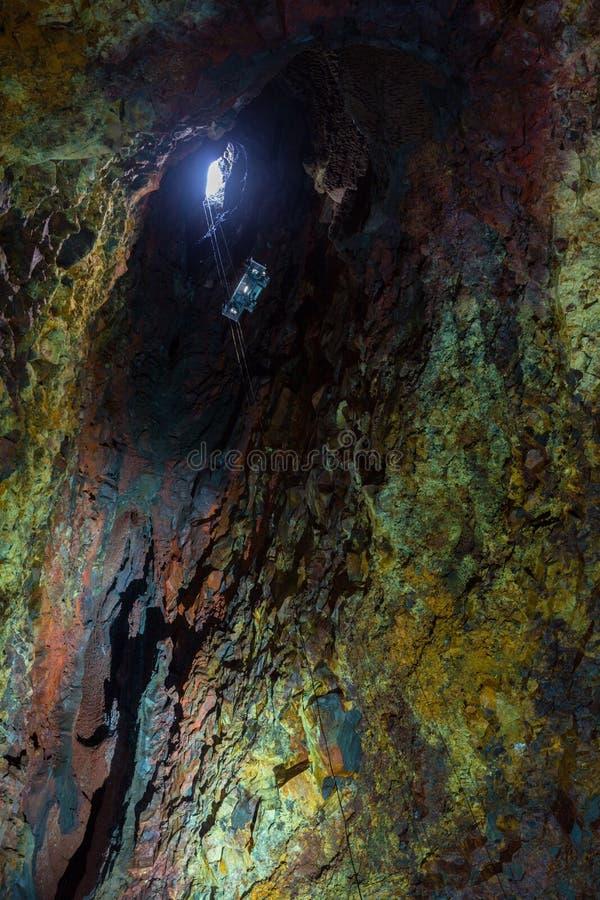 Binnen de Vulkaan stock foto's