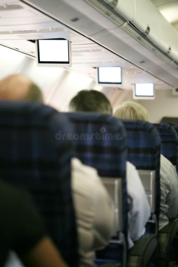 Binnen donker vliegtuig royalty-vrije stock afbeeldingen