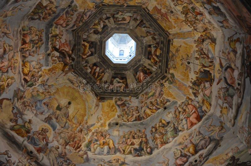 Binnen Duomo in Florence Cathedral van Santa Maria del Fiore stock foto's