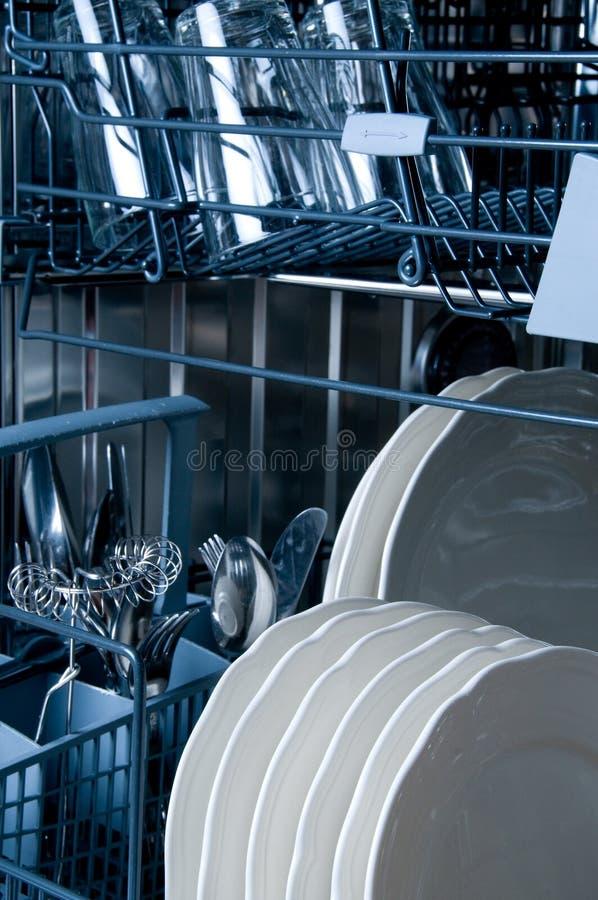 Binnen een Afwasmachine royalty-vrije stock foto