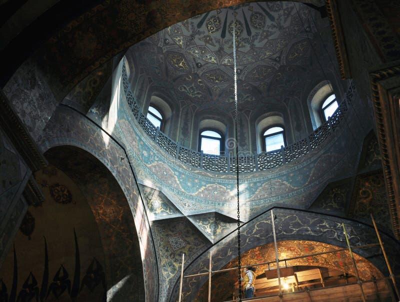 Binnen een Apostolische Kathedraal van Etchmiadzin royalty-vrije stock fotografie