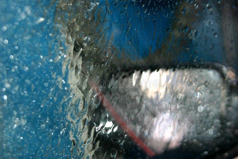 Binnen een autowasserette stock afbeelding
