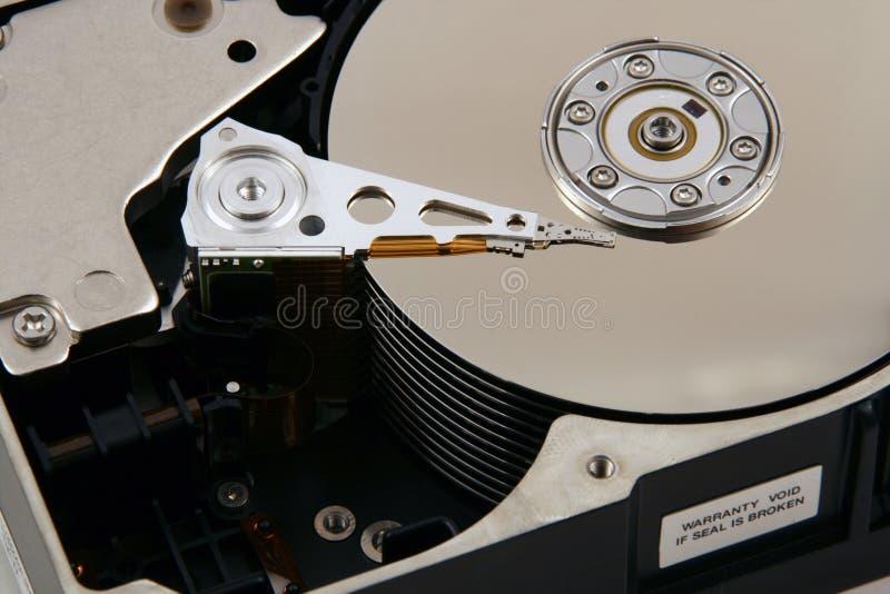 Binnen een Computer Harddrive stock fotografie