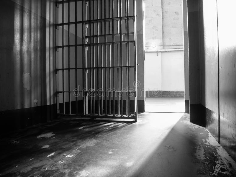 Binnen een Gevangeniscel royalty-vrije stock fotografie