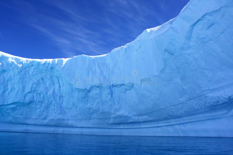 Binnen een Ijsberg, Antarctica royalty-vrije stock fotografie