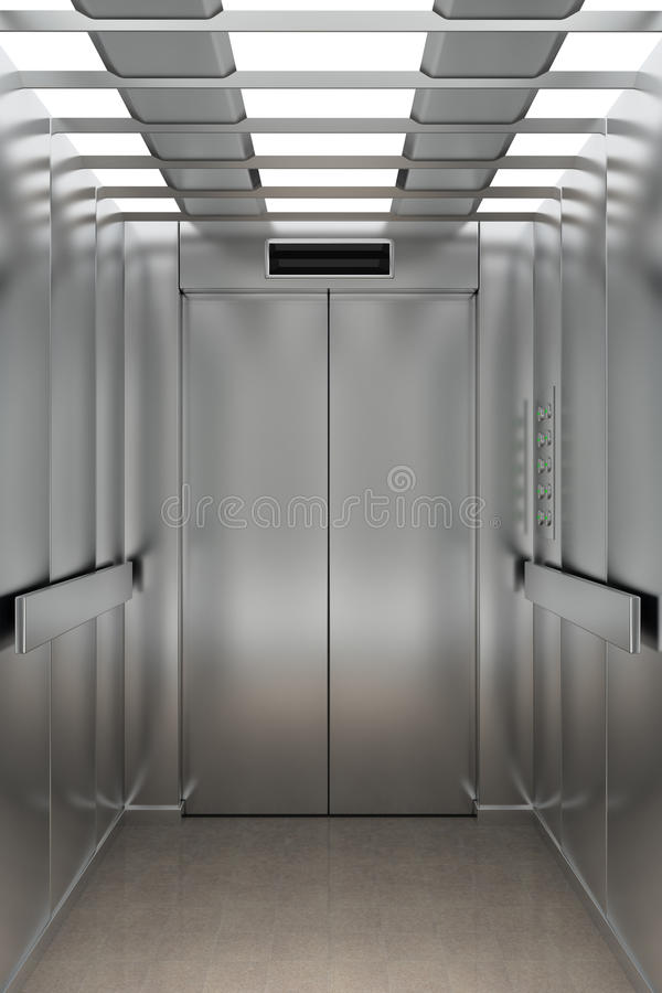 Binnen een lift stock illustratie