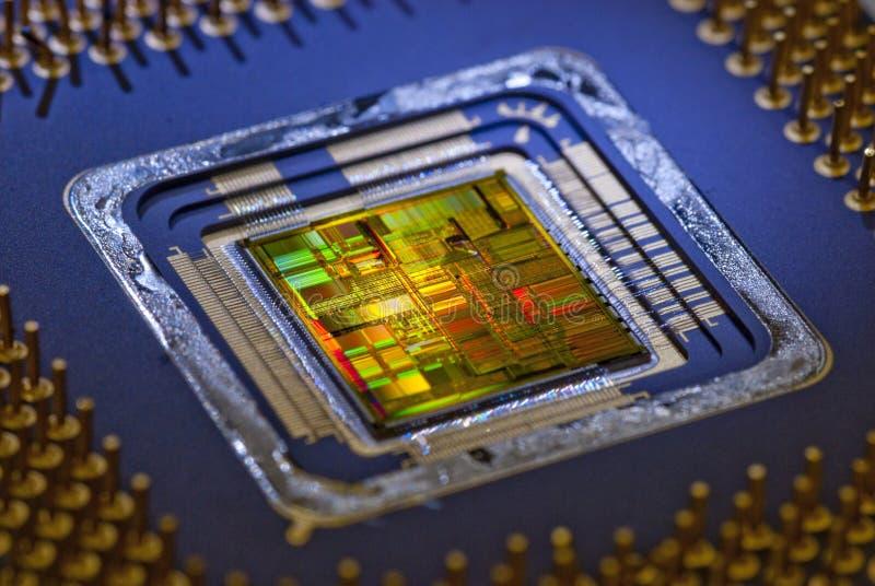 Binnen een Microprocessor stock afbeeldingen