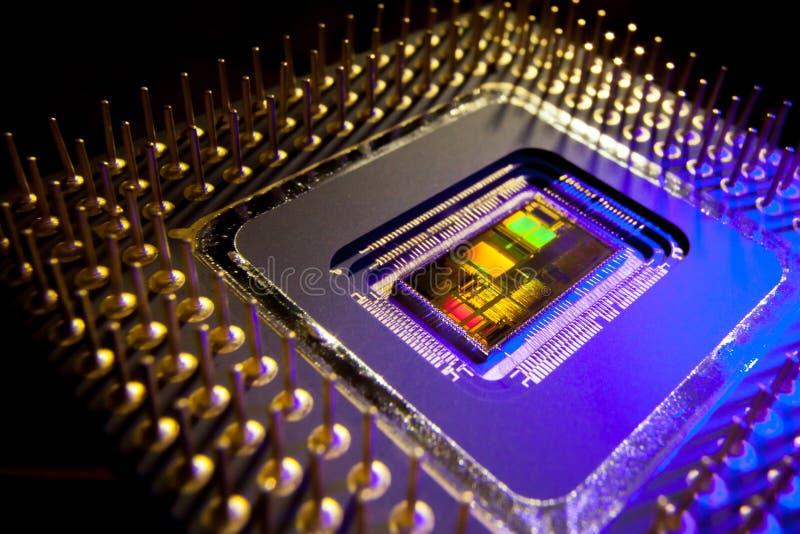 Binnen een Microprocessor stock afbeelding