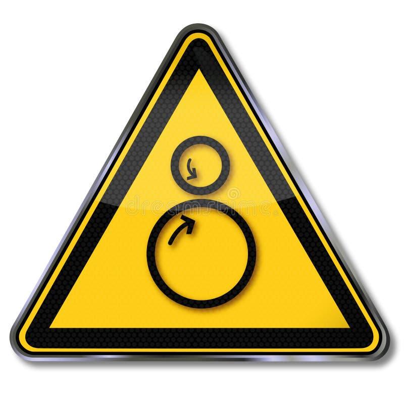 Binnen en gevaarsrollen die, die trekken verpletteren stock illustratie