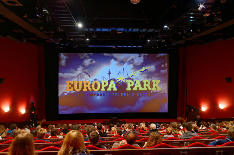 Binnen Europa Parkbioskoop royalty-vrije stock afbeelding