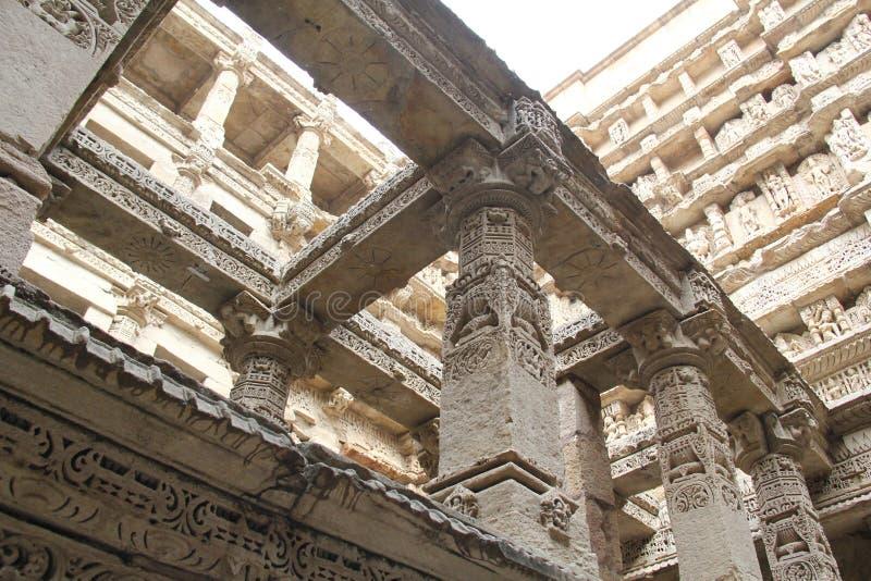 Binnen goed gestapt van Patan, India stock foto's