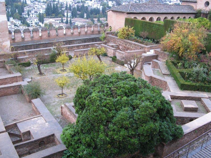 Binnen het alhambra paleis royalty-vrije stock afbeeldingen