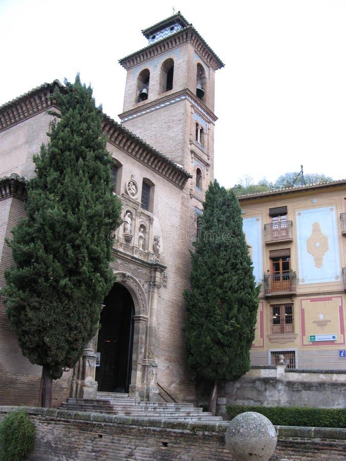Binnen het alhambra paleis stock foto's