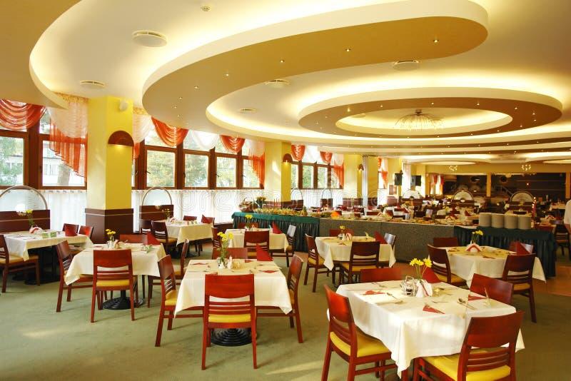 Binnen het dineren gebied stock afbeelding