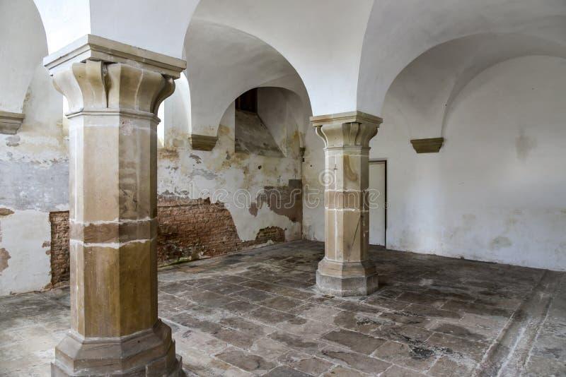 Binnen het kasteel royalty-vrije stock afbeeldingen