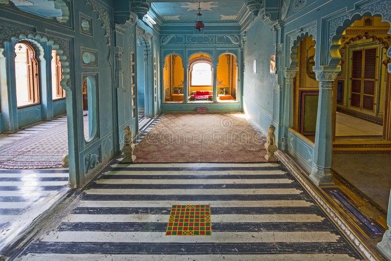 Binnen het Stadspaleis in Udaipur