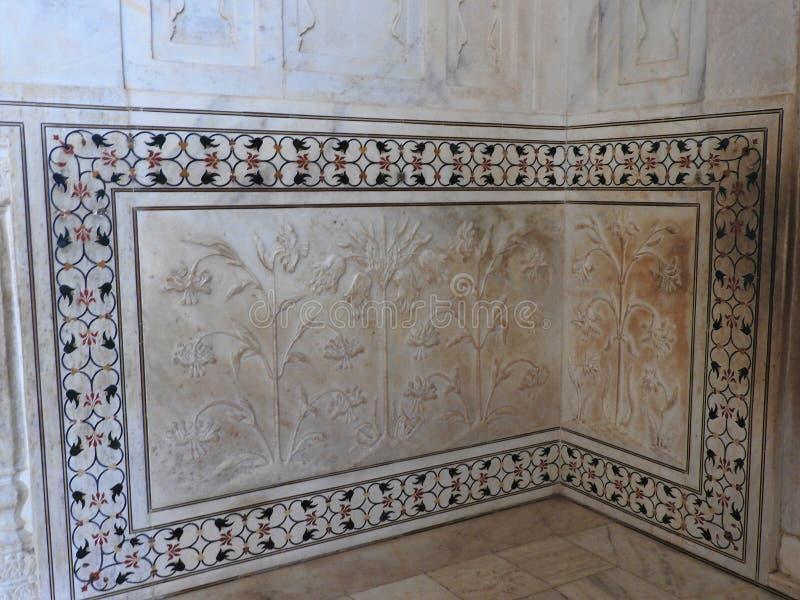Binnen het Taj Mahal-mausoleum in Agra, bouwde India, Unesco-erfenis, 1632-1653 royalty-vrije stock foto's