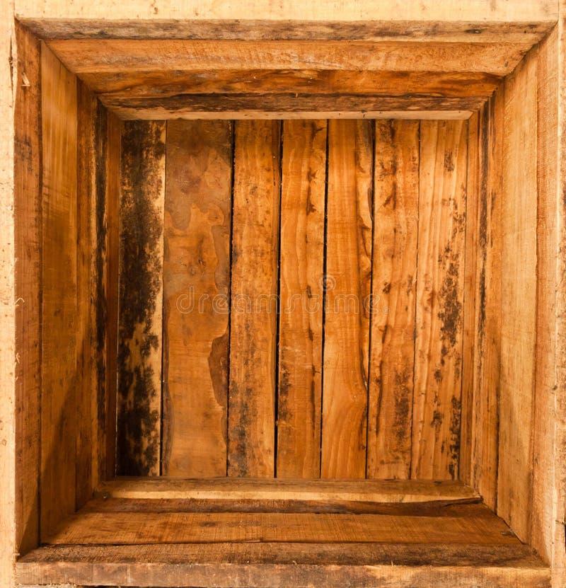 Binnen houten doos stock fotografie