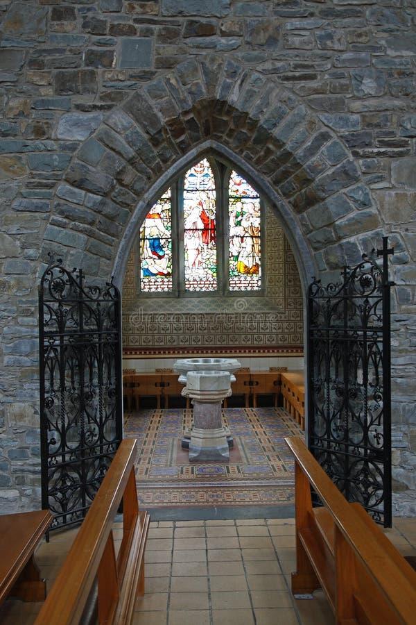 Binnen kerk stock foto