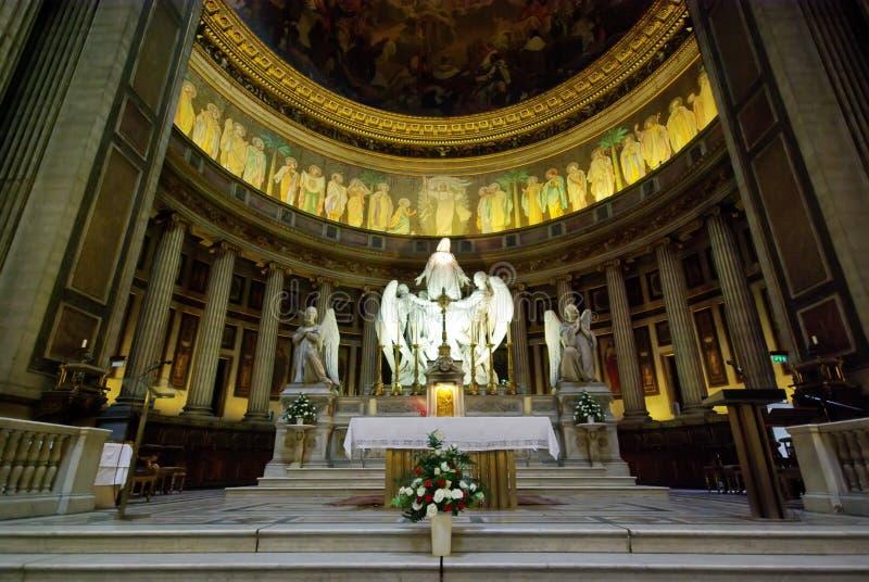 Binnen kerk Madelaine stock afbeelding