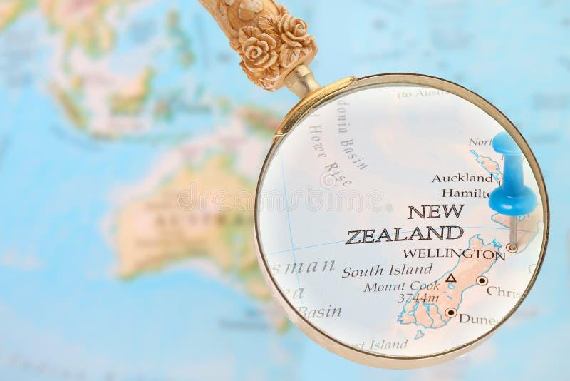 Binnen kijkend op Wellington, Nieuw Zeeland royalty-vrije stock foto's