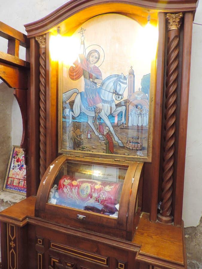 Binnen Koptisch Orthodox Klooster royalty-vrije stock foto's