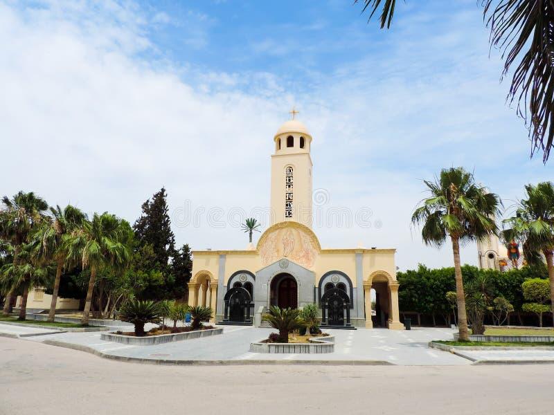 Binnen koptische kerk royalty-vrije stock foto